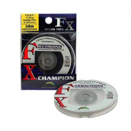 Леска Strike Pro FX Champion ice fishing 50м 0.105мм 1.5кг