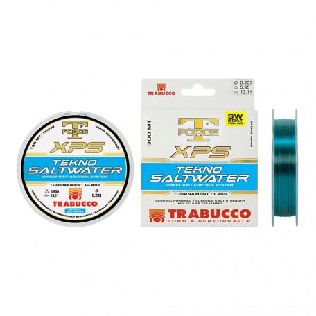 Леска Trabucco T-FORCE XPS Techno Saltwater 150м 0.25мм 8.67кг