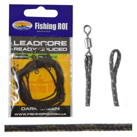 Lead Core петли Fishing ROI тёмно-зелёный 35Lb (3 шт.)