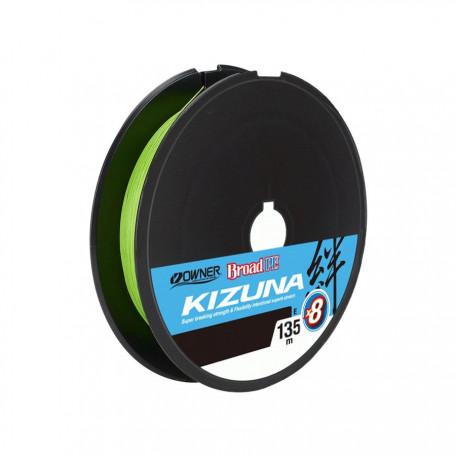Шнур Owner Kizuna Broad PE×8 135м 0.10мм 4.1кг (Chartreuse)