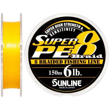 Шнур Sunline Super PE 8 Braid 150m #0.6/0.128mm 6lb/3.0kg (оранжевый)