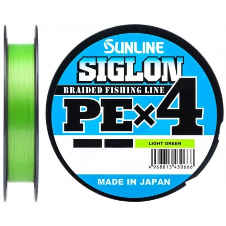 Шнур Sunline Siglon PE X4 300m #1.0/0.171mm 16lb/7.7kg (салатовый)