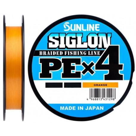 Шнур Sunline Siglon PE X4 300m #1.0/0.171mm 16lb/7.7kg (оранжевый)