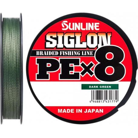 Шнур Sunline Siglon PE X8 150m #0.6/0.132mm 10lb/4.5kg (темно-зеленый)