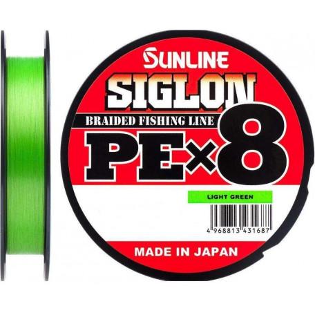 Шнур Sunline Siglon PE X8 150m #0.5/0.121mm 8lb/3.3kg (салатовый)
