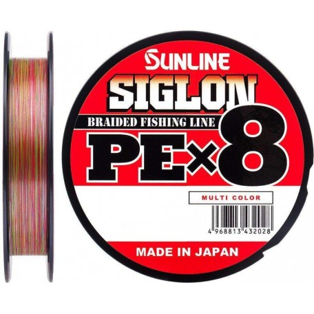 Шнур Sunline Siglon PE X8 150m #1.2/0.187mm 20lb/9.2kg (мультиколор)