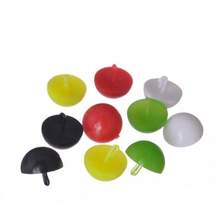 Плавающие стопоры для бойлов Carp Pro Mix Color половинка бойла 12мм (10 шт.)