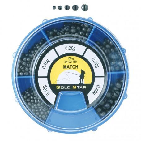 Набор грузил Energofish Gold Star Match (150г уп.)