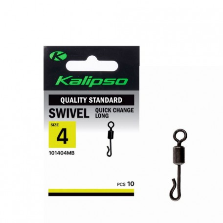 Вертлюг Kalipso Quick change swivel long 1014MB №4 (10шт.)