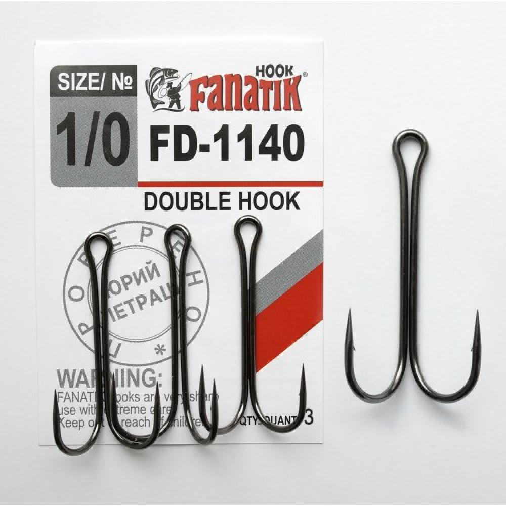 Крючок Fanatik двойной FD-1140 №1/0 (3шт)