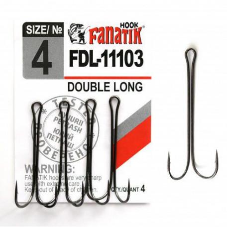 Крючок Fanatik двойной FDL-11103 №4 (4шт)