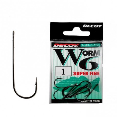 Крючок Decoy Worm 6 Super Fine №2 (9шт)