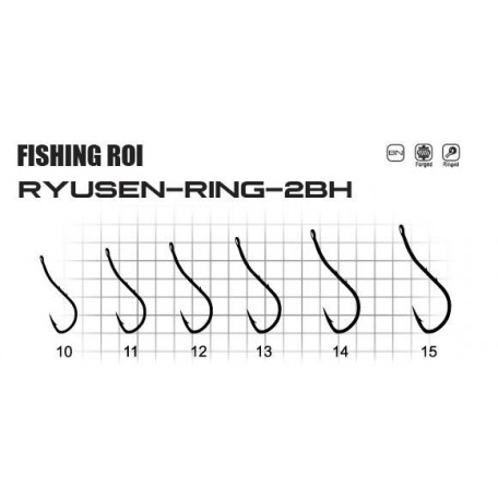 Крючки Fishing ROI Ryusen-ring2-bh №12 (8шт.)
