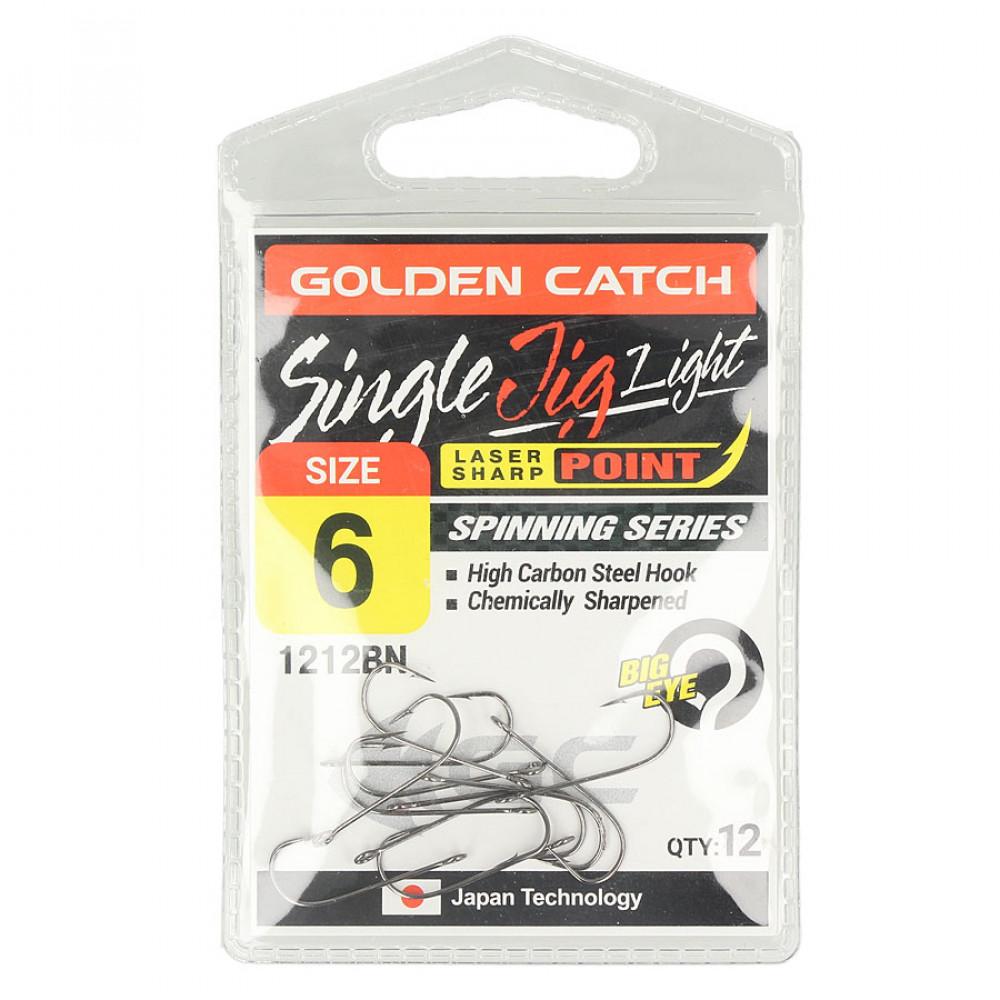 Крючок Golden Catch Single Jig Light 1212BN №10 (12шт.)