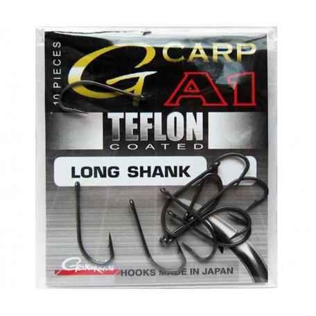 Крючок Gamakatsu G-CARP A1 Teflon Long Shank №8 (10 шт.)