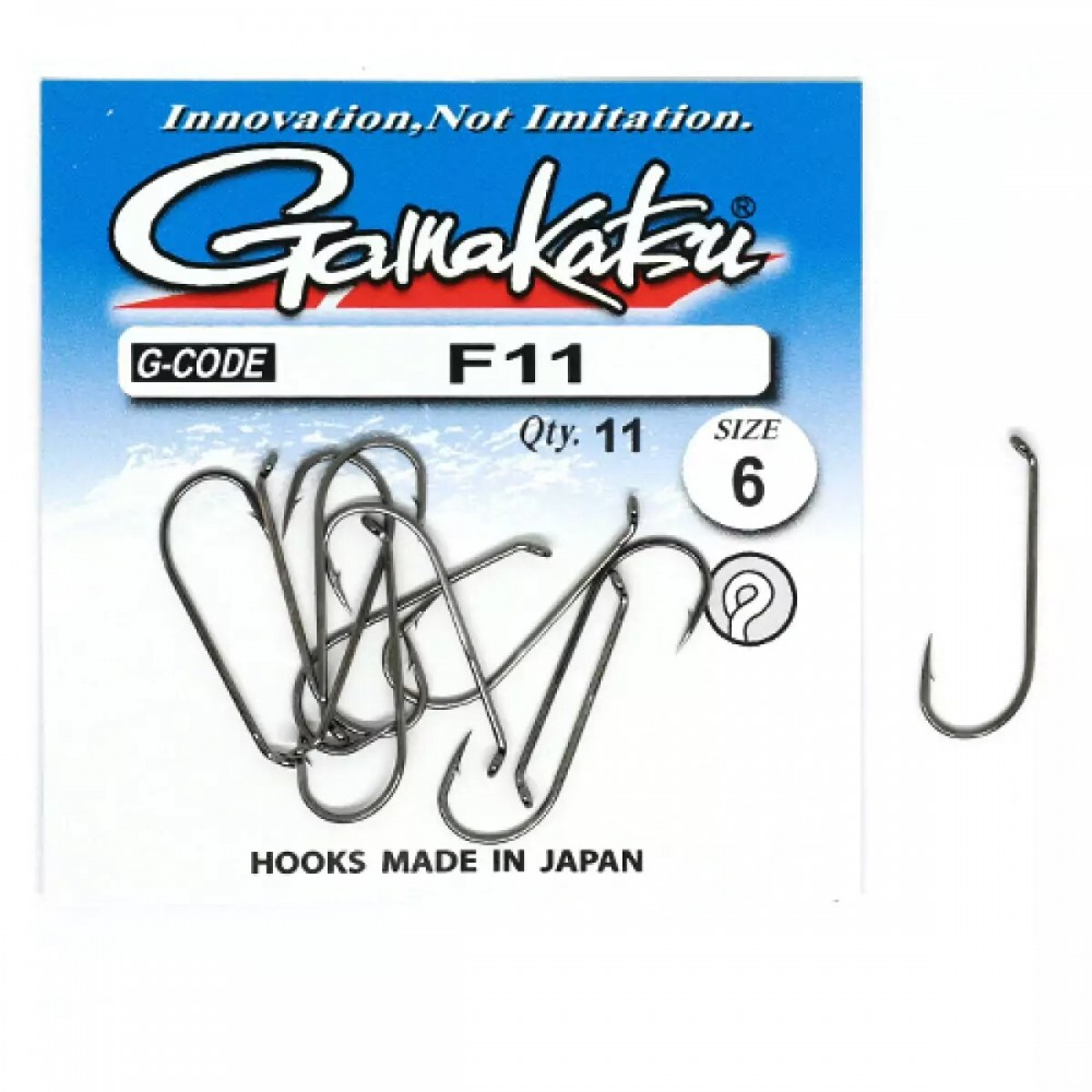 Крючок Gamakatsu F11-3F N/L №4 (11шт)