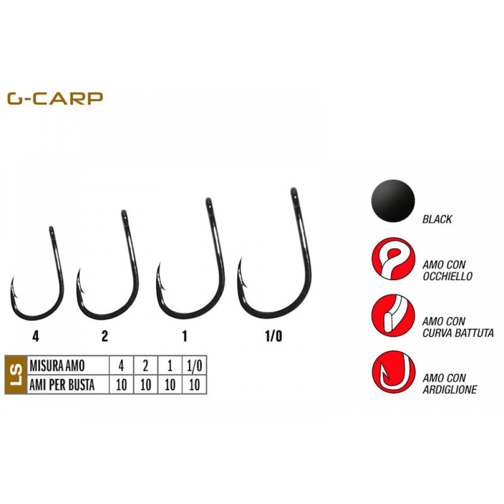 Крючок Gamakatsu G-CARP Specialist Hook №4 (10шт.)
