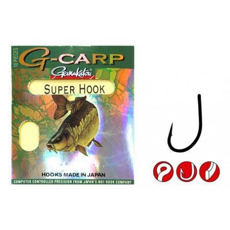 Крючок Gamakatsu G-CARP Super Hook №4 (10 шт.)