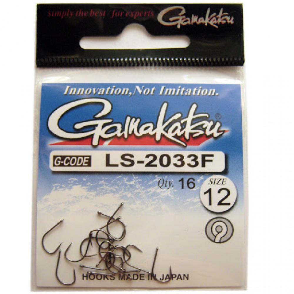 Крючок Gamakatsu LS-2033F Ring Eye №12 (16шт)