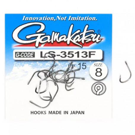 Крючок Gamakatsu LS-3513F N/L Black №8 (25 шт.)