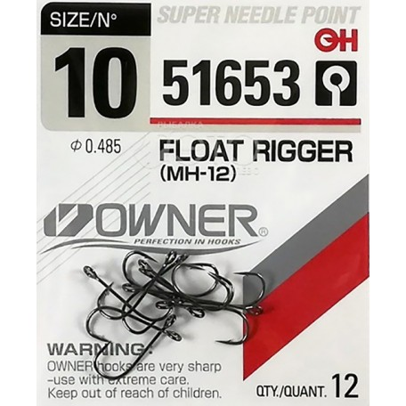 Крючок Owner Float Rigger 51653 №12 (17шт)