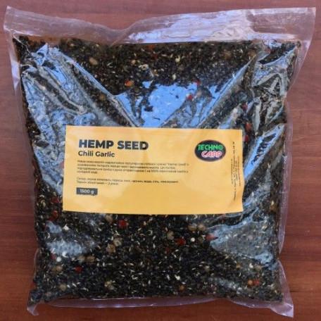 Готовая конопля ТехноКарп Hemp seed + chili, garlic (1.5кг)