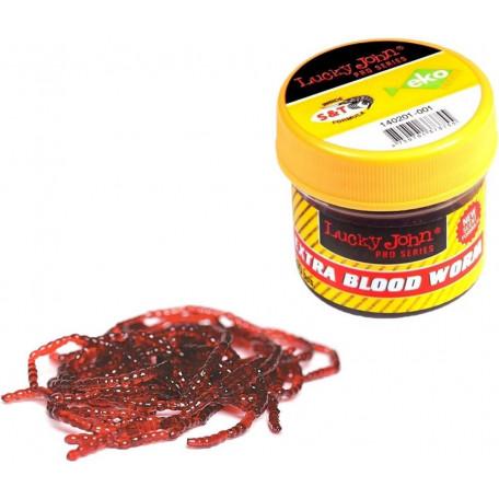 Мотыль силиконовый Lucky John Extra Blood Worm размер L (200 шт.)
