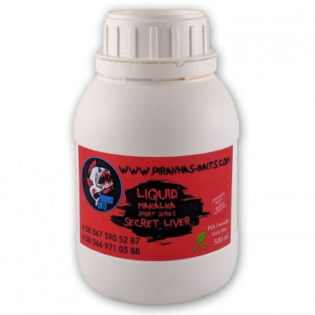 Ликвид Piranhas Baits Makalka Sport Series Secret Liver, 500ml