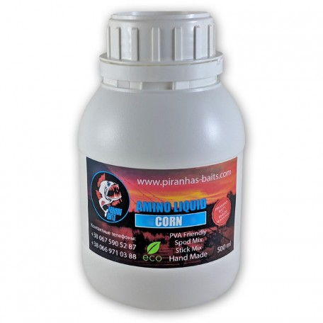 Ликвид Piranhas Baits Amino Liquid Corn, 500ml