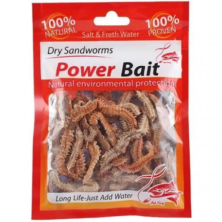 Сушеный Нереис Power Bait морской лиманский червь для ловли пеленгаса (10г)