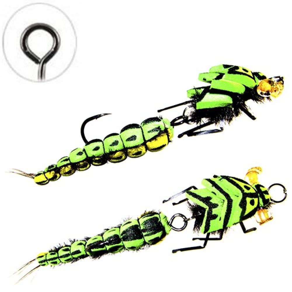 Муха Floating Jig Realistic Stone Double Green 7.5см