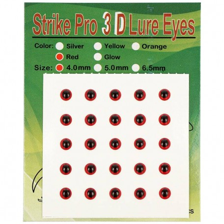 Глаза Strike Pro 3D для воблера 4мм красные