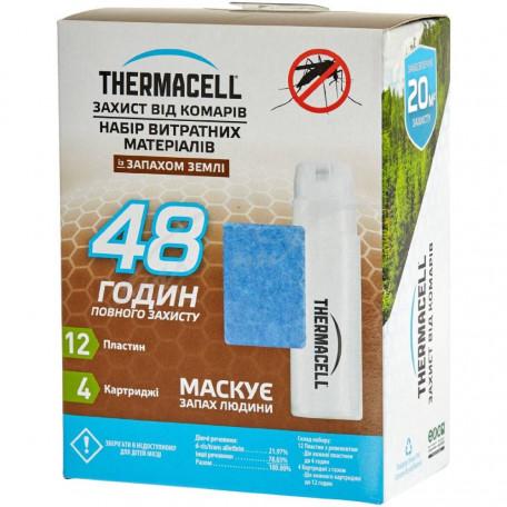 Набор запасной Thermacell E-4 Repellent Refills – Earth Scent на 48 часов (4 газовых картриджа + 12 пластин)