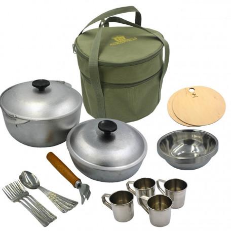 Набор для пикника Acropolis (сумка с посудой на 4 персоны) СДП-2 ↕–21см; Ø–25см