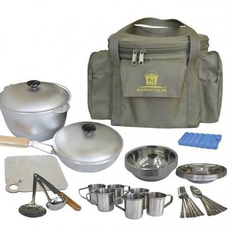 Набор для пикника Acropolis (посуда на 6 персон и сумка с термоотделом) СДП-1 ↕–27см; Ø–31см