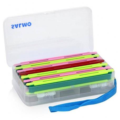 Коробка с пластиковыми мотовилами Salmo 19.0×11.0×5.0см