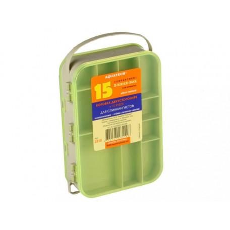 Коробка AQUATECH 2515 двухсторонняя (15 ячеек)