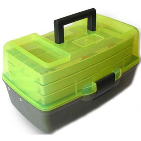 Ящик Aquatech 3-х полочный 1703Т с прозрачной крышкой