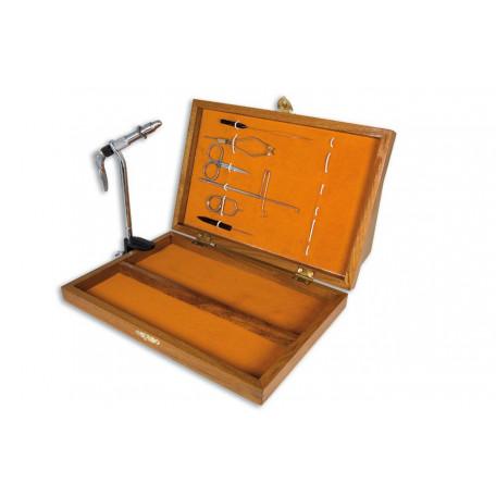 Набор Lineaeffe для вязания мушек 7 наименований в деревянной коробке